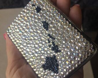 Maui-made Island Chain custom Swarovski-embellished License/Credit Card/Business card Holder hand-decorated in Swarovski crystal!