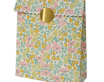 Liberty Poppy Daisy Treat Bags, Meri Meri, Liberty of London, Paper Gift Bags, Liberty Gift Wrap, Gift Wrap,  Floral, Liberty Favor Bag