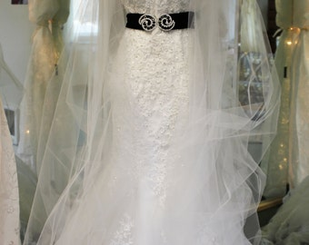Whisper Wrap-Dramatic Couture  Extra Long Bridal Wrap- Custom made-Choice of Fabrics