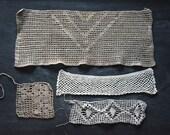 Antique Crochet Lace, Antique Textiles, Crochet Lace, Vintage Crochet Lace, Crochet Lace Trims, Sewing Supplies, Vintage Sewing Supplies,