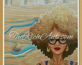 13x19 afro art print