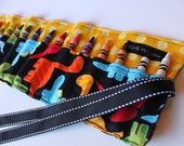 Dinosaur Crayon Roll Organizer-Great Gift or Stocking Stuffer-16 Crayola Crayons Included-Ready to Ship