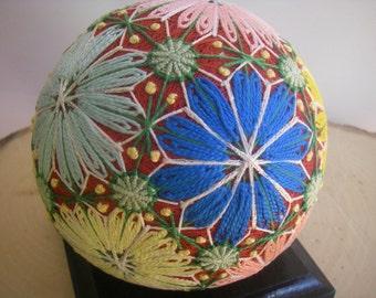 Hand made Temari ball (flowers)
