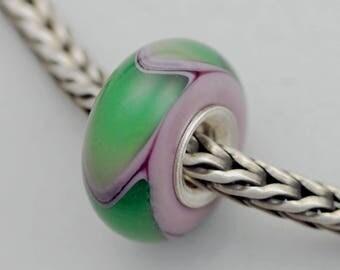 Small Green Lilac Armadillo / Dillo - Artisan Charm Bracelet Bead (AUG-51)
