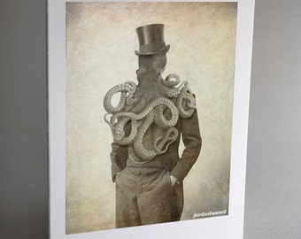 Octopus Note Cards, Octopus, Animal Note Cards, Notecard, Thank You Card, Note Card, Note Cards, Handmade Note Card Set, Greeting Card