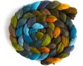 Merino Wool Roving Superfine - Hand Dyed Spinning or Felting Fiber, Sun Gilded