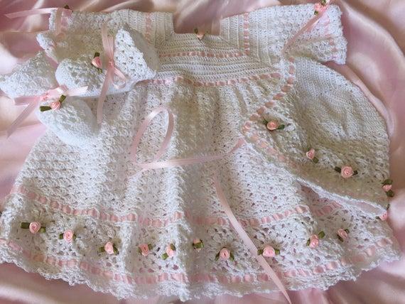 Taufe Kleid häkelarbeitbaby Kleid Baby-Kleidung Taufe