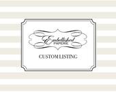 Custom listing for Brittany