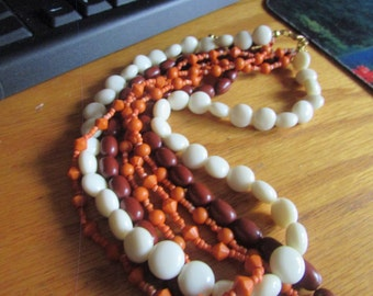 many strand bead necklace