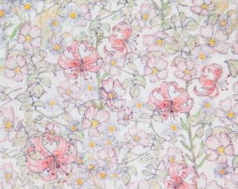 SALE Liberty of London tana lawn fabric Mrs Munroe Fat Eighth Tissu Liberty
