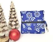 Front zip bag, mini zip bag, ear bud case, gift card holder, roller ball bag, essential oils bag, lip balm holder, gifts under 10, stocking