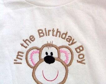 Personalized  Birthday Party shirt Monkey Theme I'm the Birthday Boy