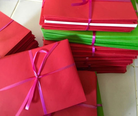 50 envelopes  Red Envelopes  4 1/2 x 8 inch  envelopes paper supplies card envelope for cards Valentine Christmas reds