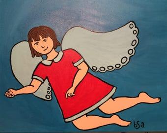 The Little Angel Acrylic on Canvas