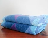 Towels for two - shades of blue and purple