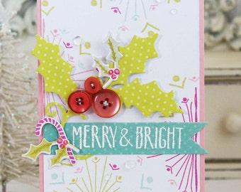 Merry & Bright...Handmade Card