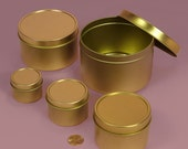 Custom Order for Nicole Lundy 4 and 6 oz Gold Tins