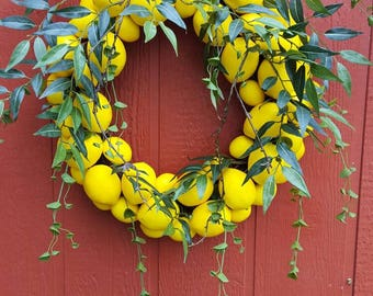 Lemon to Lemon Wreath 2