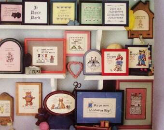Cross Stitch Pattern - SHORT AND SASSY #2 - 46 More Minature Sayings  Leisure Arts Patterns