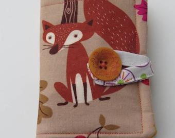 Tea Wallet , Tea Bag Holder, Cute Accessory, Purse Accessory, Foxes