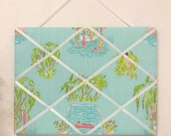 New memo board made with Lilly Pulitzer In The Slim fabric
