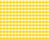 "Clearance FABRIC Classic Retro YELLOW GINGHAM 1/4"" Check by Red Rooster"