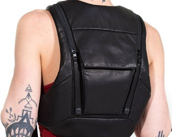 RESIST-TECH Leather Ninja Backpack by Jungle Tribe