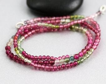 Watermelon Tourmaline Beads - 2-3 mm - Tourmaline Beads - AAA+ Rounds