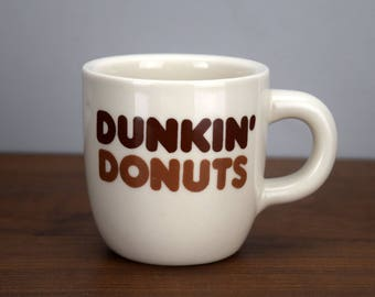 Vintage Dunkin Donuts Coffee Mug Rego China Diner Style Coffee Cup