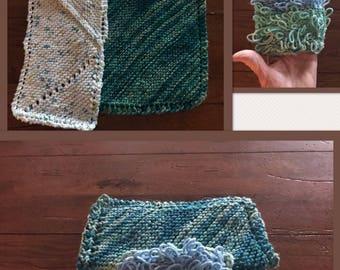 Kitchen cloth, towel, scrubby set