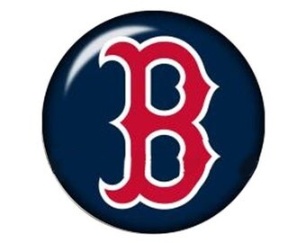 MERZIEs 18mm Snap Red Sox Boston glass round Fenway Park baseball sports Button - SHIPs from USA