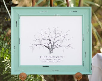 Wedding Tree Alternative Guestbook - Thumbprint Tree Keepsake