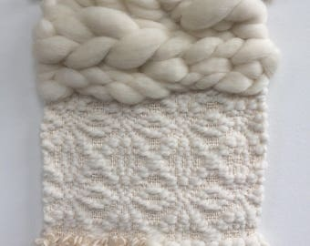 All White Petite Wall Hanging