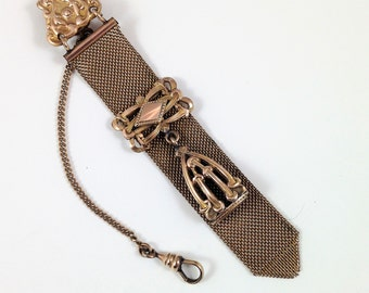Victorian Watch Fob, Gold Mesh