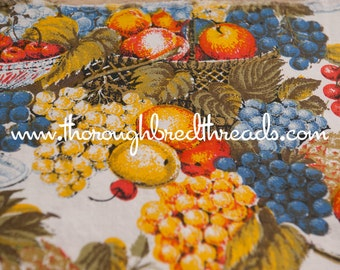 Fun Kitschy Fruit - New Old Stock Vintage Fabric Mod Novelty 70s 45 in wide