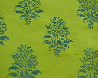 Stunning Floral  - Vintage Fabric New Old Stock Chartreuse