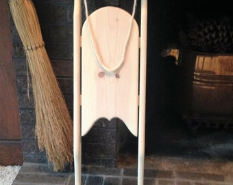 UNFINISHED  Wood Grungy Antique SLED