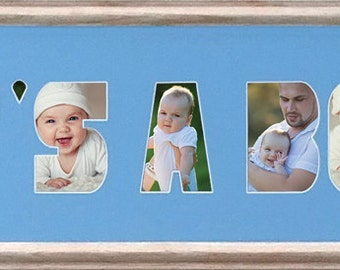 It's A Boy/Girl Custom Photo Collage 8x26 (mat only)