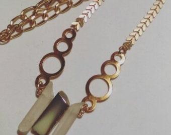Three Stones Necklace