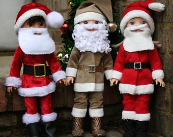 Santa Suit for Wellie Wishers Dolls- PDF Sewing Pattern sized for 14 inch dolls