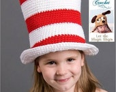 ON SALE Crochet Pattern 002 - Cat In The Hat - All Sizes