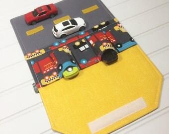 Firetruck Toy car wallet, Fire truck toy, Car play mat, Toy car carrier, Hot Wheel, Birthday, Race track, Car caddy, Firetruck wallet