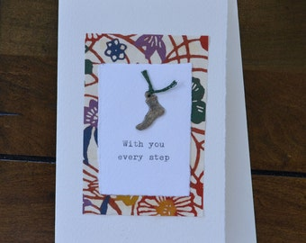 With You Every Step Milagro Greeting Card