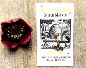 Bumblebee stitch marker, 12 mm snag free