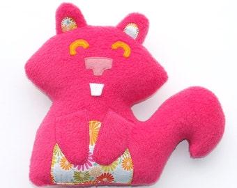 Pink Squirrel Plush