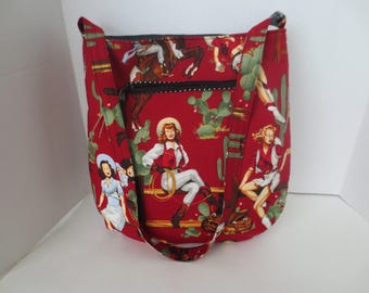 Trail Tote - Country Girl - Pin Up - Handbag - Red