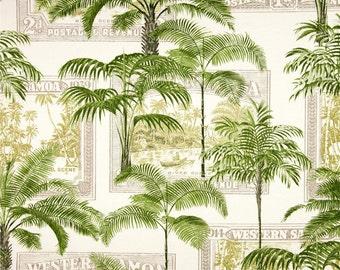 Palm Tree Shower Curtain, Tropical Shower Curtain, Island Bathroom Decor,  Green Shower Curtain