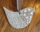Dove Ornament - white or blue - Ceramic Stoneware Pottery