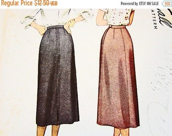 on SALE 25% OFF 1940s Skirt Pattern Misses size Waist 24 McCalls Pattern Slim A line Skirt Sewing Pattern