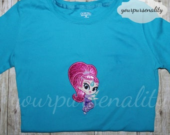 Shimmer Genie tee shirt toddler to youth -- Shimmer and Shine